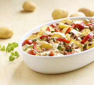 Recept - Aardappel Anders - Gehaktschotel met paprika en courgette